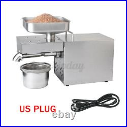 110V Automatic Oil Press Machine Oil Extraction Extractor Expeller Commerical