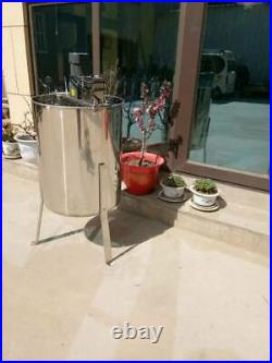 110V Electric 4 Frame 304 Stainless Steel Honey Extractor With Stand Beekeeping