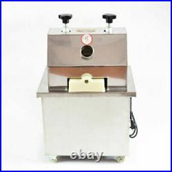 110V Electric Ginger Sugar Cane Juicer Press Machine Stainless Steel Extractor