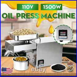 1500W Automatic Oil Press Machine 304 Stainless Steel Presser Extractor Q