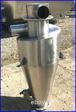 18 Dia. Stainless Steel Cyclone Separator Air Inlet 3.75 tangential