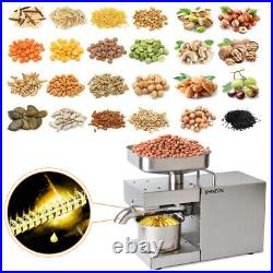 220V Auto Oil Press Machine Oil Extraction Commerical Olive Extractor