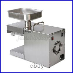 220V Auto Oil Press Machine Oil Extraction Commerical Olive Extractor Expeller