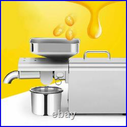 250W Automatic Oil Press Machine 304 Stainless Steel Presser Extractor US