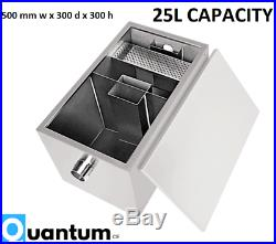 25L Capacity Stainless Steel Commercial Grease Trap Interceptor Fat Separator