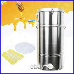 2/4 Frame Stainless Honey Extractor Centrifuge Beekeeping Bee Hive Equipment US