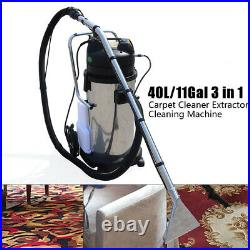 3 in1 40L Mobile Carpet Cleaning Machine Vacuum Cleaner Extractor Dust Collector