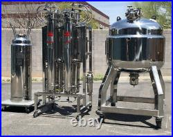 40 lb ASME hydrocarbon closed loop extractor, 304 stainless steel withSwagelok THC