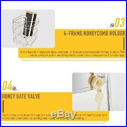 4/8 Frame Stainless Steel Honey Extractor Electric Beekeeping