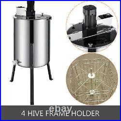 4 Frame Beekeeping Equipment Large Stainless Steel Electric Honey Extractor