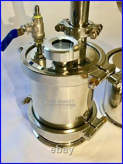 6 Stainless Steel 304 90g-135g Closed Loop Extractor with Splatter Platter