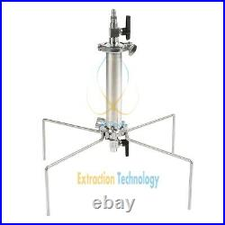 90g Closed Column Pressurized Extractors BHO Extractor kit stainless steel 304