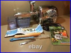 Angel Juicer Stainless Steel AG-8500s Deluxe Cold Press Juice Extractor