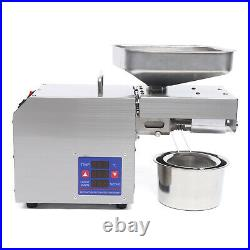 Automatic Oil Press Machine Commerical Oil Extractor Seed Cold Oil Expeller 600W