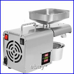 Automatic Oil Press Machine Stainless Steel Extractor Machine Oil Expeller 110V