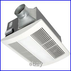 Bath Fan + Light & Heater 110 CFM Ceiling Exhaust Bathroom Ventilation Extractor