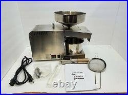 CGOLDENWALL Automatic Oil Press Machine Presser Stainless Steel Oil Extractor