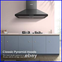 COMFEE' 60 cm Chimney Cooker Hood PYRA17B-60 Stainless Steel Extractor