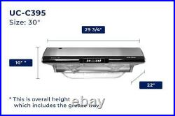 Chef C395 30/36Kitchen Under Cabinet Range Hood Extractor Stainless Steel LED