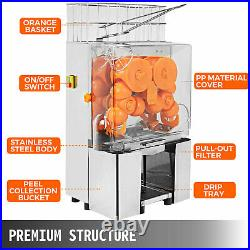 Commercial Electric Orange Squeezer grapefruit Juicer Extractor with Filter Box