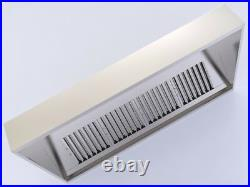 Commercial Kitchen Extractor Canopy Hood Kit 2500mm 8 Foot Fan Motor & Ducting