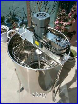 Electric 4 Frame 304 Stainless Steel Honey Extractor Stand Beekeeping Farm