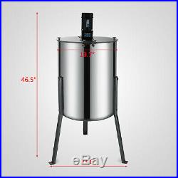 Electric Honey Extractor 4 Frame Stainless Steel Beekeeping Equipment 120W Motor
