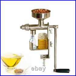 FDA CE Manual Oil Press Machine Stainless Steel Nuts Seed Oil Expeller Extractor