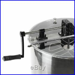 Four 4/8 Frame Stainless Steel Bee Honey Extractor SS Honeycomb Drum BEE-V004B