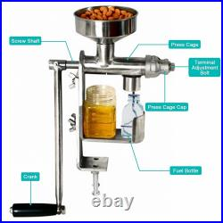 HD Manual Oil Press Machine Expeller Extractor Stainless Steel#304 Homemade oil