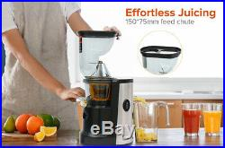 IJuicer Cold Press Slow Juicer Ultra Extractor Machine Stainless Steel BPA Free