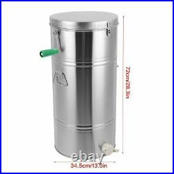 Manual Honey Extractor 2 Frame Stainless Steel Beehive Drum Bee Centrifuge Kits