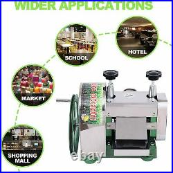 Manual Sugar Cane Press Juicer Juice Machine Commercial Extractor Mill 50KG/H US