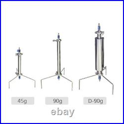 Mini Stainless Steel Vacuum Chamber BHO Plant Essential Oil Extractor 45g 90g