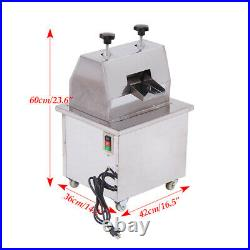 New 110V Commercial Vertical Electric Sugar Cane Juicer Extractor Press Machine