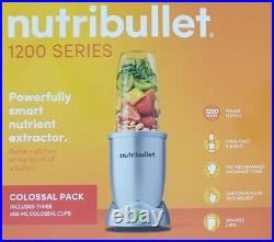 Nutribullet 1200 Series Smart Nutrient Extractor Colossal Pack 1200 Watts