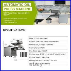 Oil Extraction Extractor Expeller Auto Oil Press Machine Olive Peanut Nuts Seeds