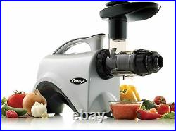 Omega NC800HDS 5th Gen Masticating Juice Extractor Nutrition Center Silver