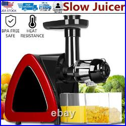 Slow Masticating Juicer Cold Press Extractor Stainless Steel Wide Chute with Brush