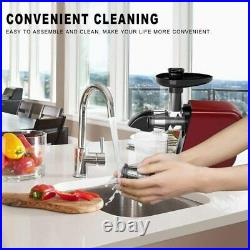 Slow Masticating Juicer Extractor Reverse Function Cold Press Juicer Machine