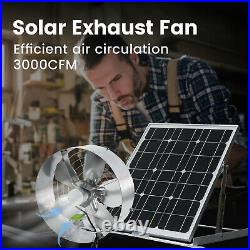 Solar Ventilation Exhaust Vent Fan Extractor Kit or With Solar Powered Panel