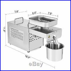 Stainless Oil Press Machine Automatic Expeller Extractor Peanut Nuts 304# Steel
