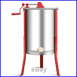 Stainless Steel 4 Frame Honey Extractor Beekeeping Equipment with Adjustable Stand