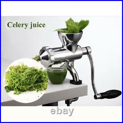 Stainless Steel Wheatgrass Juicer Manual Fruit Vegetable Juice Press Extractor