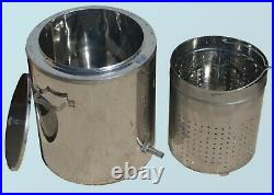 Steam WAX Melter 17 L (4.5 gal) Honey Processing Machine \ Beeswax Extractor
