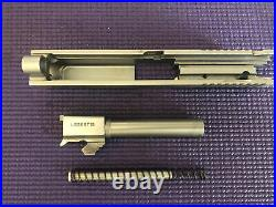 Taurus PT 83S 38 Super Stainless Slide Barrel Recoil Spring Gold Extractor RARE