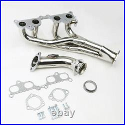 Tri-y Ss Tubular Exhaust Manifold Header Extractor For 95-01 Tacoma 2.4/2.7 L4