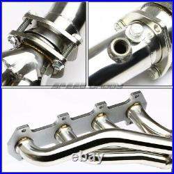 Tubular Exhaust Manifold Header Extractor+mid Pipe For 04-10 Ford F150 5.4 V8