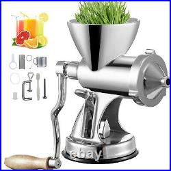 VEVOR Manual Wheatgrass Juicer Extractor Wheat Grass Grinder with Suction Cup Base