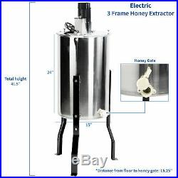 VIVO Large Electric Three (3) Frame Stainless Steel Honey Extractor (BEE-V003E)